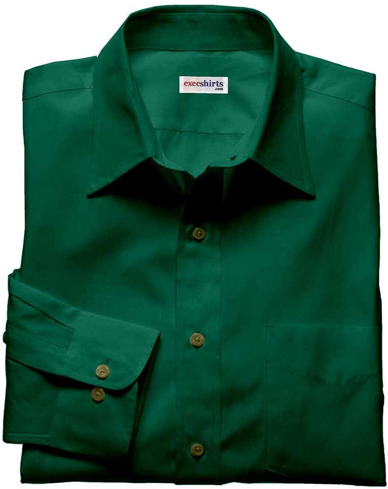 Dark Green Silk Shirts