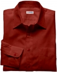 Lt. Red Silk Shirt