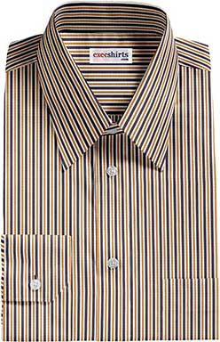 Black/Gold Striped Dress Shirt With Neck Tie