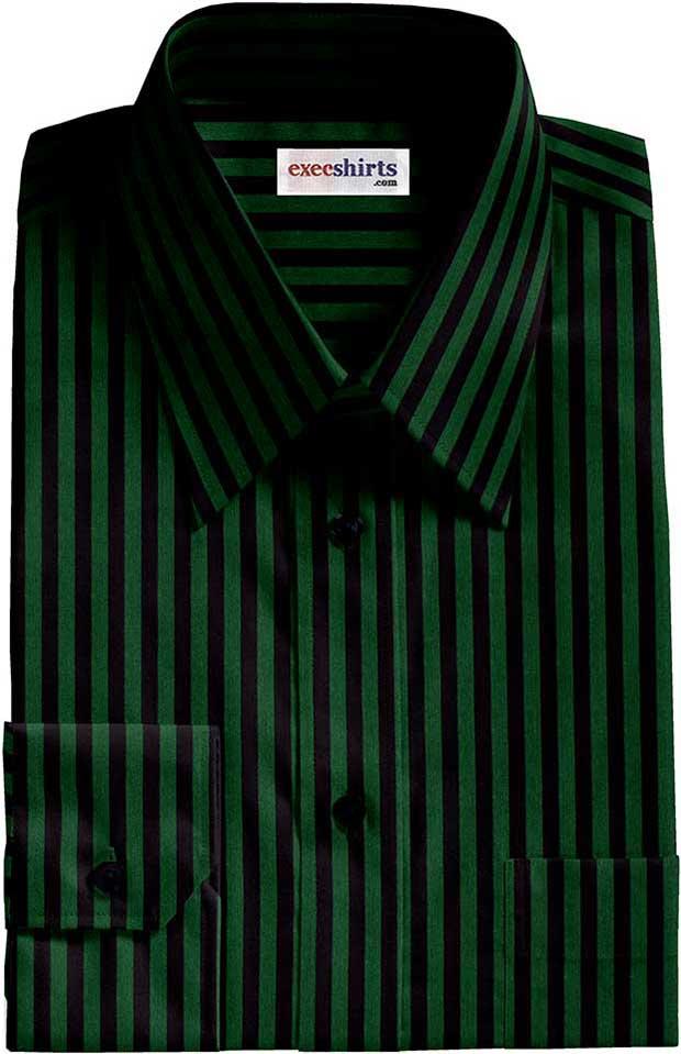 black green striped dress shirt execshirts