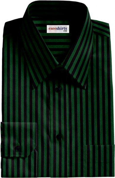 818bfebe90 Black/Green Striped Dress Shirt