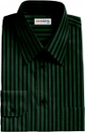 Black/Green Striped Dress Shirt