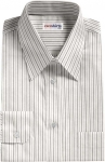 Black/Grey Striped Dress Shirt
