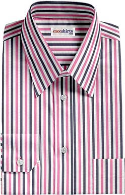 Black/Pink Striped Dress Shirt