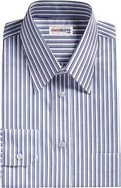 Blue/Lt. Blue Striped Dress Shirt2 With Neck Tie