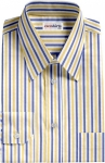 Blue/Yellow Striped Dress Shirt