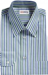 Green/Blue Striped Dress Shirt