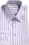 Light Purple Large Striped Dress Shirt
