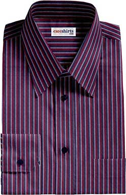 Multi Colored Striped Dress Shirt With Neck Tie