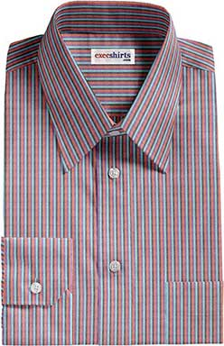 Multi Colored Striped Dress Shirt 2 With Neck Tie
