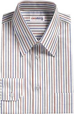 Multi Colored Striped Dress Shirts 3 With Neck Tie
