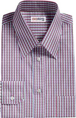 Multi Colored Striped Dress Shirt 4 With Neck Tie