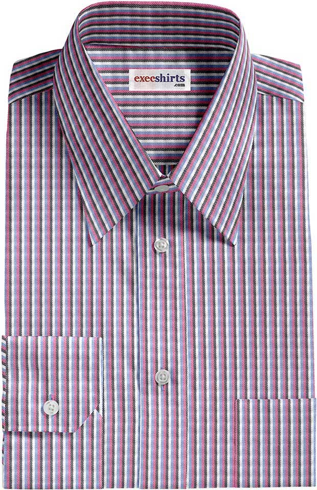 Multi Colored Striped Dress Shirt 4