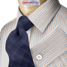 Striped Multi Color 6 Dress Shirts With Neck Tie