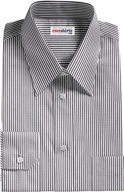 Black Narrow Striped Dress Shirt