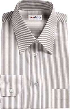 Narrow Lt. Purple Striped Dress Shirts With Neck Tie