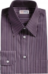 Navy Blue Striped Dress Shirt