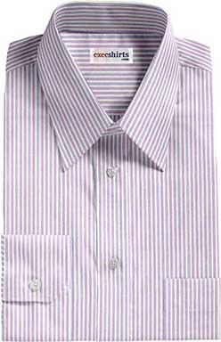 Purple/Lt. Blue Striped Dress Shirts With Neck Tie