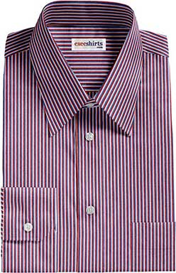 Red/Blue Striped Dress Shirts 1 With Neck Tie