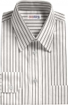 Striped White/Black Dress Shirt