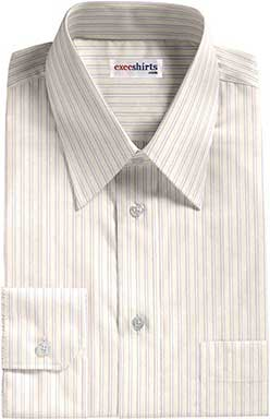 White/Lt. Blue Dress Shirts With Neck Tie