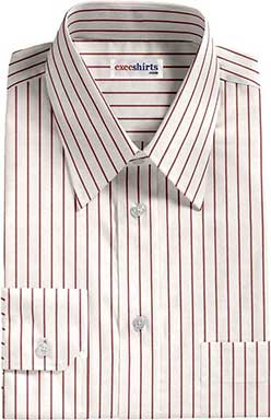 Red/White Striped Dress Shirt 1 With Neck Tie