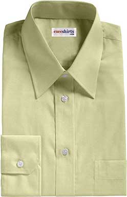 Tan Broadcloth Dress Shirt