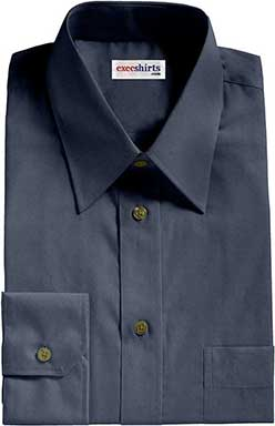 Teal/Gray Broadcloth Dress Shirt