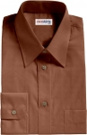 Brown Broadcloth Dress Shirt