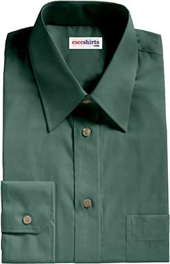 Forest Green Broadcloth Dress Shirt
