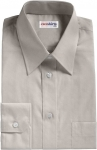 Light Gray Broadcloth Dress Shirt