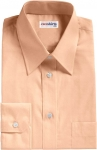 Orange Broadcloth Dress Shirt