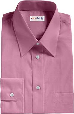 Violet Oxford Dress Shirt With Neck Tie