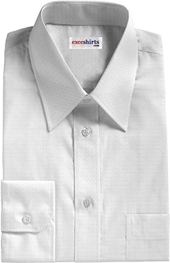 White Checked Weave Dress Shirt