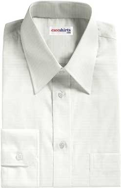 White Checked Weave Dress Shirt 2