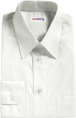 White Checked Weave Dress Shirt 3