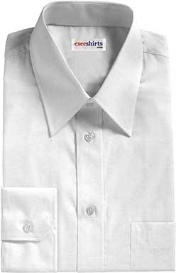 White Broadcloth Dress Shirt