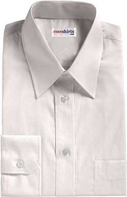White Birdeye Pinpoint Dress Shirt