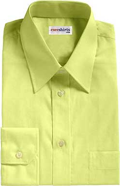 Yellow Birdeye Pinpoint Dress Shirts With Neck Tie