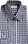 Fancy Navy Checked Dress Shirt