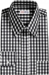 Fancy Black Checked Dress Shirt