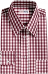 Fancy Maroon Checked Dress Shirt