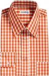 Fancy Orange Checked Dress Shirt