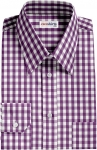 Fancy Purple Checked Dress Shirt