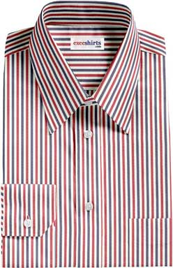 Red/Navy Striped Shirt