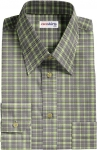 Black/Green Windowpane Checked Shirt