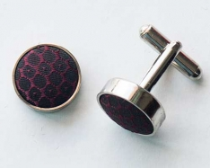 Black/Red Cuff Links