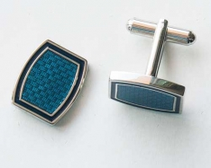 Blue Square Cuff Links