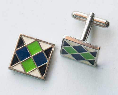 Green Square Cuff Links