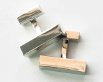 Rectangular Metal Cuff Links